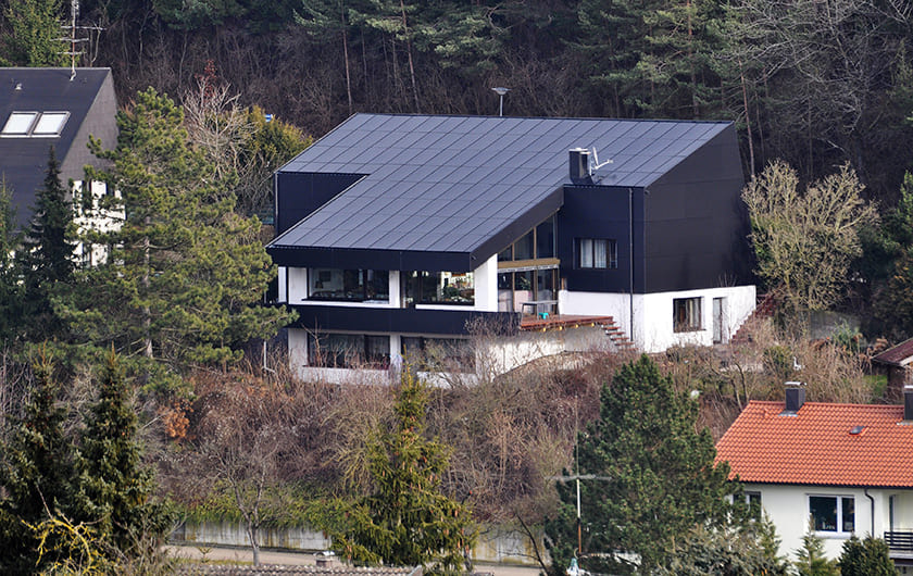 8,41 kWp in  Ost-West Ausrichtung